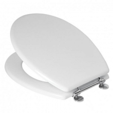 TOILET SEAT WHITE MDF CHROME H