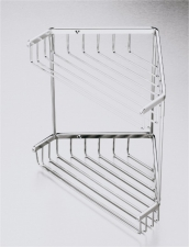 SHOWER CORNER CADDY DBL S/S
