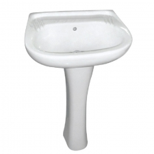 BASIN HIBISCUS WHITE 510MM